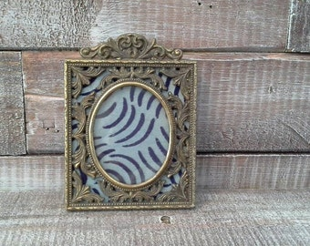 Vintage Ornate Brass Picture Frame
