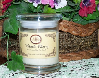 Black Cherry Premium 100% Pure Soy Candle 8oz