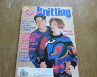 Vintage 1990 Fashion Knitting Magazine # 49 October 1990