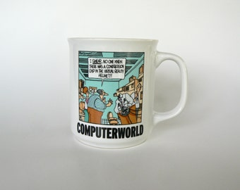 Vintage 1990's ComputerWorld Rich Tennant Comic Coffee Mug