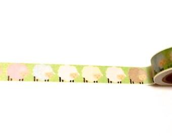 Sheep Washi Tape, Washi Tape, Baby Shower Washi, Planner Supplies, Planner Washi, Planner Tape, Scrapbook Supplies