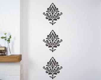 Damask Wall Stickers