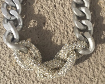 Silver Pave Necklace