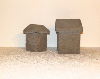 Hypertufa Concrete Composite House Set
