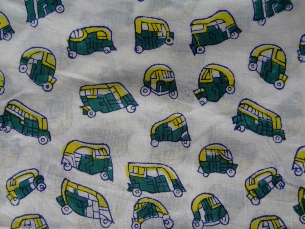 Tuk tuk print fabric by yard kids clothing indian fabric for Childrens dress fabric