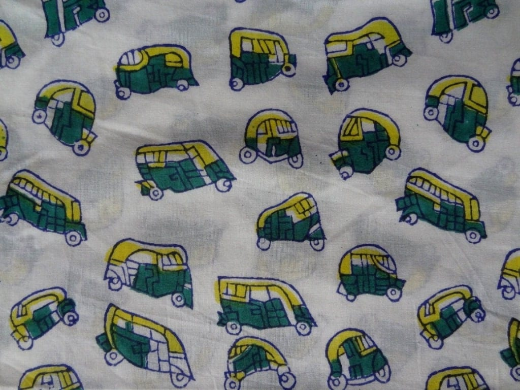 Tuk tuk print fabric by yard kids clothing indian fabric for Fabric for kids clothes