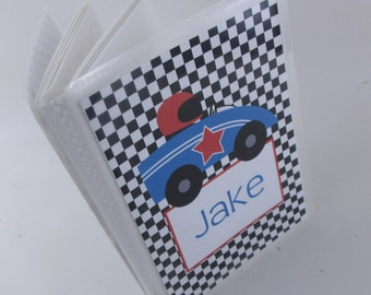 Baby Photo album, boy photo album Race Car 4x6 or 5x7 picture book Personalized Grandmas Brag book baby shower Gift 570