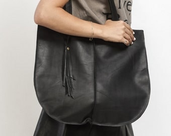 Black Tote bag, Soft leather bag, Office Bag, Shoulder Bag, Casual Bag, New Collection!