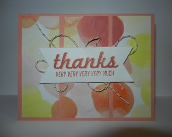 Handmade Card - Thank You Set of 2 cards
