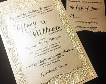 items similar to boxed couture wedding invitations  wedding, Wedding invitations