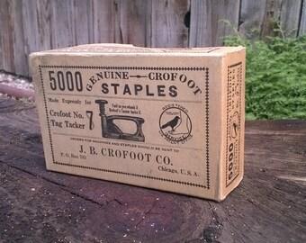 J.B. Crofoot Co. staples. Sealed box.