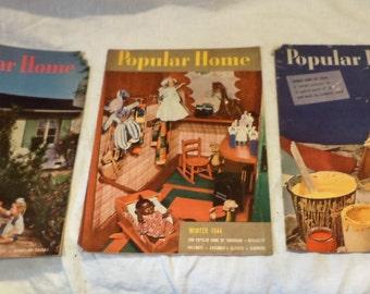 Popular Home Magazines, Vintage Interior Design Magazine History, 1940s