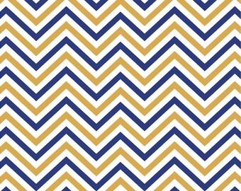 Navy, gold and white chevron craft  vinyl sheet - HTV or Adhesive Vinyl -  zig zag pattern HTV5007
