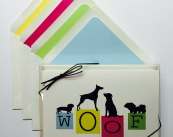 WOOF Box of 8 Note Cards