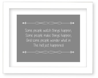 Digital Art Print, Funny Quote, Gray and White, Modern Art, Subway Art