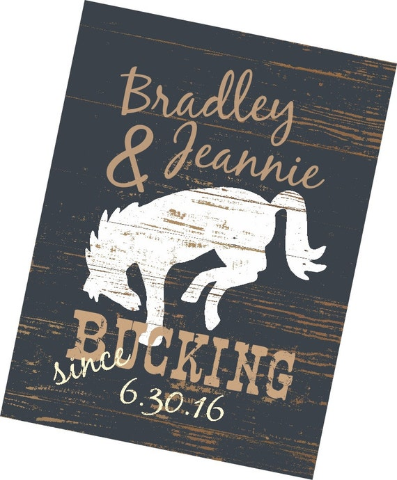 Cowboy Wedding Gifts: Western Art Print Personalized Gift Wedding Gift Gift For