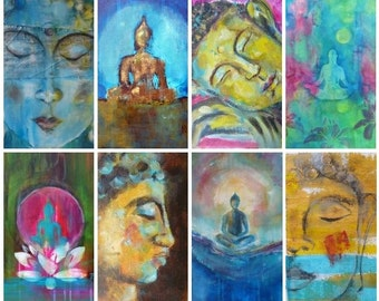 40 Spiritual Buddha Tarot Cards with Buddhist quotes