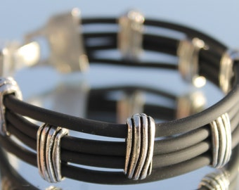 Black Rubber Bracelet