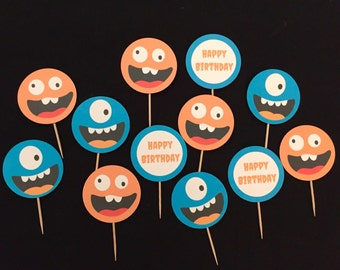 Monster Party Cupcake toppers