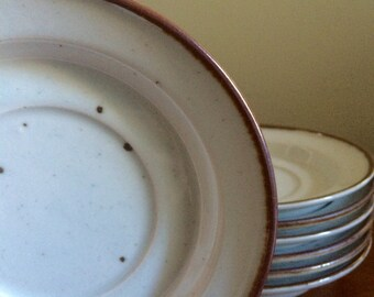 Dansk Designs Denmark Brown Mist Saucer Niels Refsgaard Set of 7