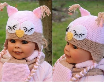Speely Owl Hat Crochet Pattern