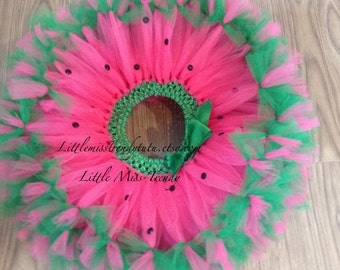 Watermelon Tutu Skirt, Watermelon Tutu, Pink Tutu Skirt, Watermelon Halloween Costume, Watermelon Halloween Tutu, Watermelon Girls Tutu