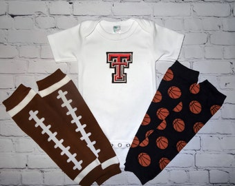 Texas Tech University baby outfit - Texas Tech onesie - Red Raiders basketball