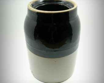 Antique 19th Century Stoneware Wax Seal Canning Jar