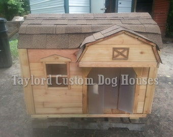 36x48x46 Gambrel roof style insulated dog house