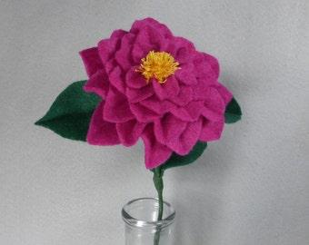 Pink Camellia - Felt Camellia - Fake Camellia - Artificial Camellia - Pink Flower - Felt Flower - Artificial Flower - Fake Flower