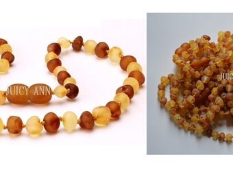 Unpolished Raw Baltic Amber Child Sized Necklaces (Rainbows)