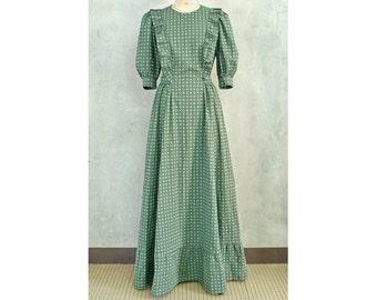 Size M Ruffle Maxi Dress with Tie Waist Women's PDF Sewing Pattern