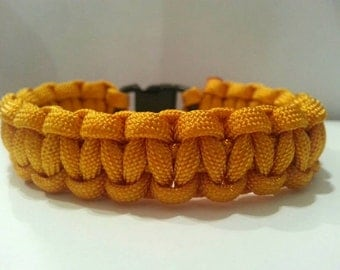 Small Goldenrod Paracord Bracelet