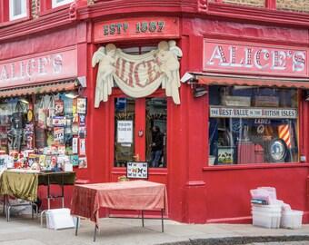 Portobello Road Photography - London Print - Alice's Antique Shop, Notting Hill - Portobello Market