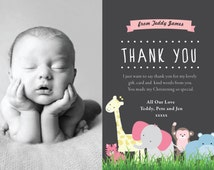 Baby Gift Thank You Cards Personalised - Gifts