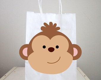 Monkey Goody Bags, Monkey Favor Bags, Monkey Goodie Bags, Monkey Gift Bags