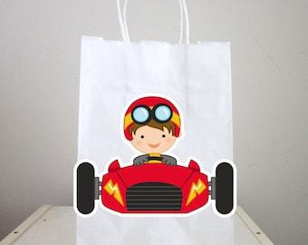 Race Car Goody Bags, Race Car Favor Bags, Race Car Party Bags, Race Car Party Bags, Race Car Birthday