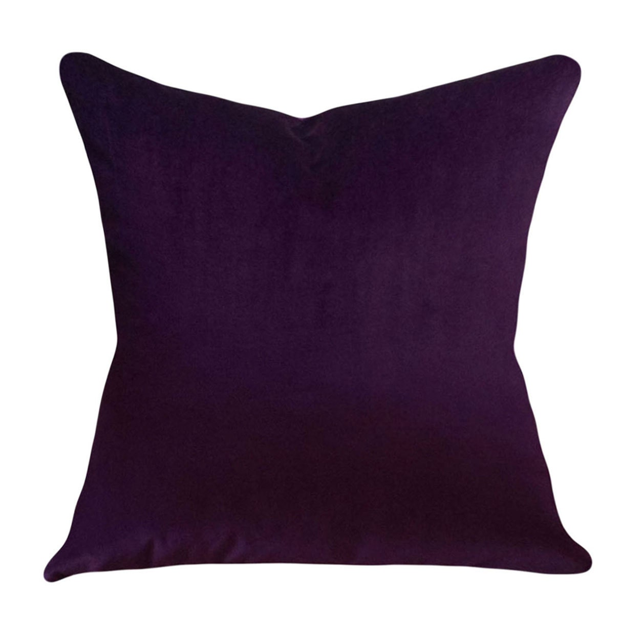 Purple Velvet Decorative Pillow Cover Throw by PillowTimeGirls