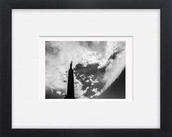 Riga, black and white street photography European art, wall art,photo print horizontal