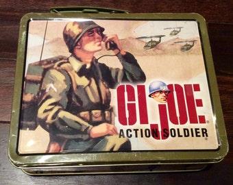 Metal GI Joe Action Soldier Lunchbox, GI Joe Collectibles, Vintage GI Joe, Soldier Action Figures, Vintage Lunch Box, Kids Lunchbox