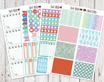 Little Mermaid Inspired Weekly Sticker Kit for Erin Condren Vertical Life Planner