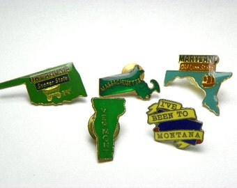 US State Hat Pins Tie Pin Lapel Pin Your Choice Free Domestic Shipping