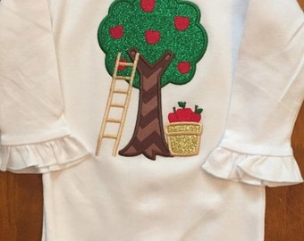 ON SALE Apple Picking Fall Shirt or Baby Bodysuit