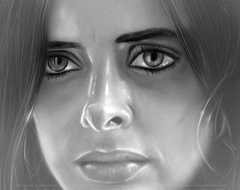 Jessica Jones Portrait 11x17 Art Print