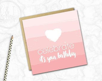 Birthday Card {OMBRE PINK}