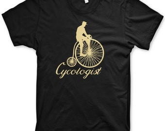 Cycologist t-shirt funny penny farthing bicycle tee