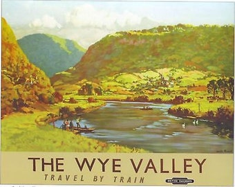 1955 BR Wye Valley A3 Railway Poster Reprint