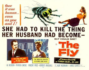 Vintage The Fly Movie Poster A3/A2 Print