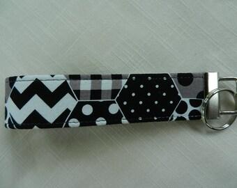 Geometric Design, Key Fob, Key chain, Wristlet, Camera Strap