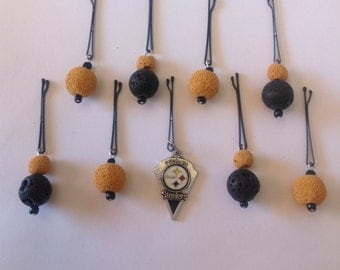 Beard Art Baubles Beard Season Football Beard Hipster Set of 8 FTB Pittsburgh Steelers